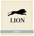 The symbol of a lion jump vector image