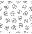 seamless pattern with butterflies doodled endless vector image