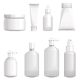 Set with different cosmetic bottles No gradients vector image