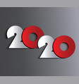 2020 new year or christmas background vector image vector image