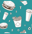 afe food set white and green and black fast vector image vector image