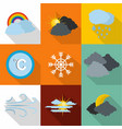 air icons set flat style vector image