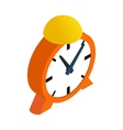 Alarm clock isometric 3d icon vector image vector image
