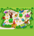 amusement park map vector image vector image