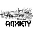 anxiety rise from the grave text word cloud vector image vector image