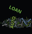 auto loan text background word cloud concept vector image vector image