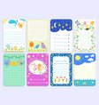 baby shower design cute layout journal vector image