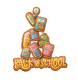 back to school characters background with vector image