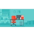 Background of business office vector image vector image