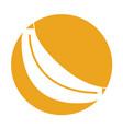 banana fresh fruit isolated icon vector image vector image