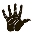 black silhouette high five icon graphic vector image