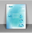 booklet with water drops vector image vector image