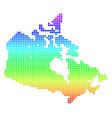 bright dot canada map vector image vector image