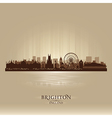 Brighton England skyline city silhouette vector image vector image