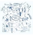 Business doodle set vector image vector image
