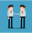 businessmen shake hands vector image vector image