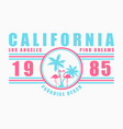 california pink dreams slogan t-shirt vector image vector image