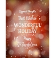 Christmas red light background EPS 10 vector image