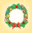 christmas wearth vector image vector image