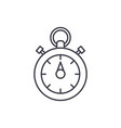 chronoscope line icon concept chronoscope vector image vector image