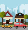 City transport design vector image vector image