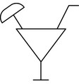 coctail icon vector image