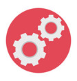 cogwheels flat icon vector image vector image