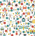 Colorful Bug Pattern vector image