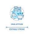 cruel attitude turquoise concept icon vector image vector image