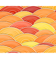 curled abstract orange waves vector image vector image