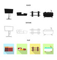 design of furniture and apartment logo set vector image vector image