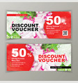discount voucher template for salads clean vector image