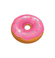 donut cake icon fast food sweet dessert pink vector image vector image