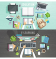 Education and e-learning concepts vector image vector image
