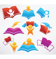 education collection signs symbol and icons vector image vector image