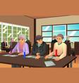 elderly people playing bingo vector image vector image