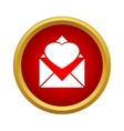 Envelope with heart icon simple style vector image