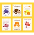 French sweet delicacy macaroons recipe cards vector image vector image
