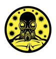 gas mask and viruses vector image vector image