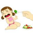 girl dont eat vector image