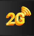 golden 2g connection icon vector image