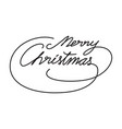 graphic merry christmas vector image vector image