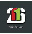 Happy new year 2016 creative greetings brochure vector image