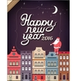 Happy New Year in a town vector image vector image