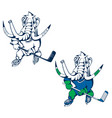 hockey player mammoth 1 vector image