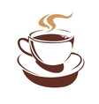 hot cup steaming coffee or tea vector image vector image