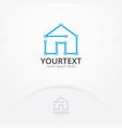 house concept logo vector image