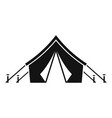hunter tent icon simple style vector image