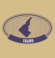 idaho map silhouette - oval stamp state vector image vector image