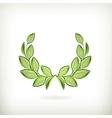 Laurel wreath green award vector image vector image